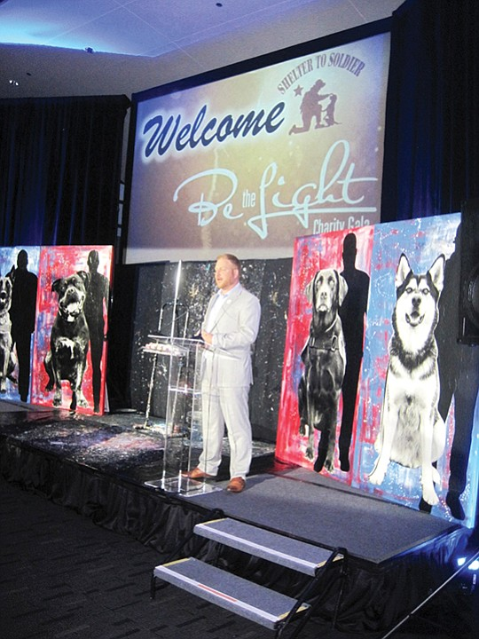 "Shelter to Soldier's founder, Graham Bloem, at its 6th Annual ""Be the Light"" gala. Photo courtesy of Shelter to Soldier"