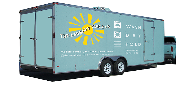 Laundry Truck LA: Rendering of trailer to house five washers, five dryers