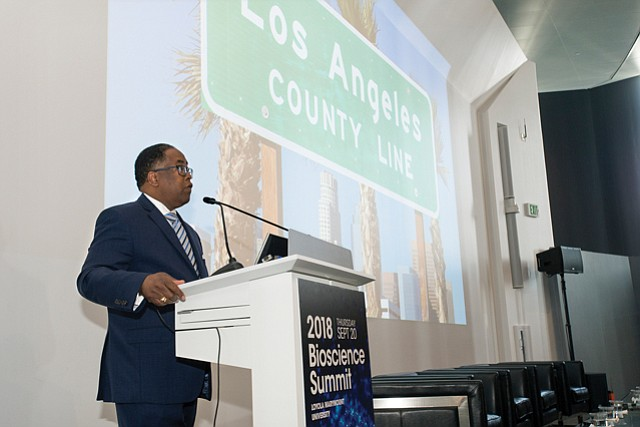 Revved Up: L.A. County Supervisor Mark Ridley-Thomas at summit.