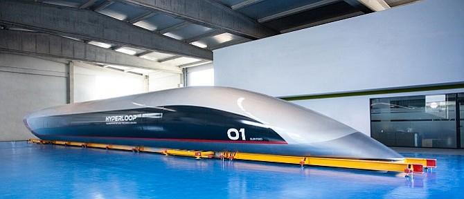 Hyperloop Transportation Technologies Inc.'s full-size passenger capsule