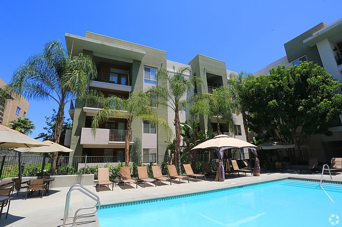 Carillon Apartment Homes at 6301 De Soto Ave. in Woodland Hills.
