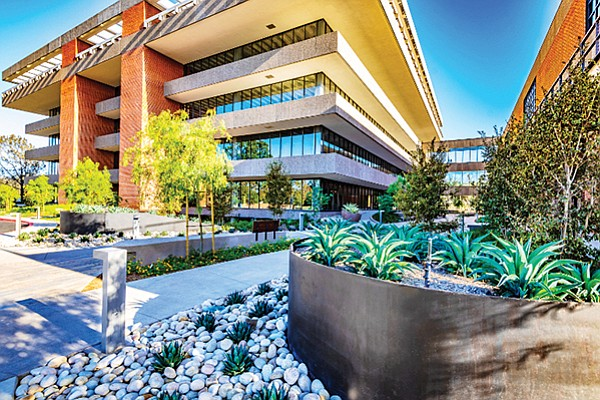 The five-story building that was once used for news and business operations has been converted to office space. Photo courtesy of La Jolla Visions/Javier Laos