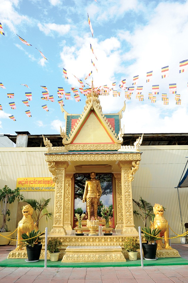 Immigrant Imagery: Cambodian temple in Long Beach.