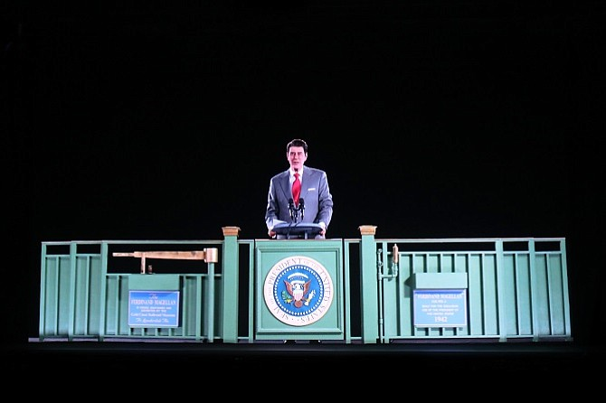 Hologram of President Ronald Reagan