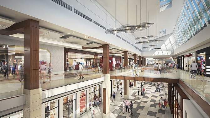 Rendering: Renovated interior of the Westfield Topanga Mall in Woodland Hills.
