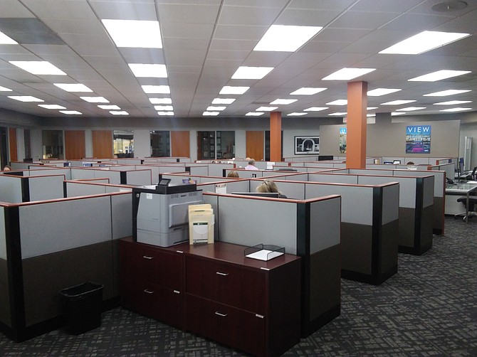 Interior of Coldwell Banker's offices at 23647 Calabasas Road in Calabasas.