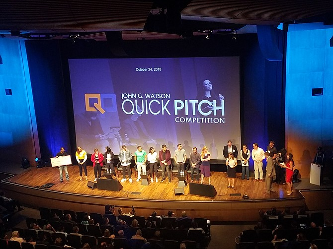 Judges awarded three San Diego companies a total of $75,000 at this year's John G. Watson Quick Pitch competition.