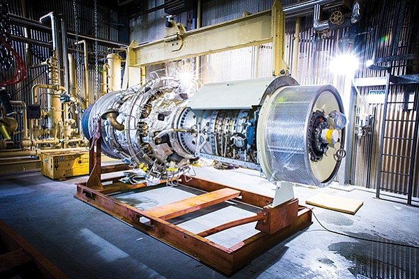 Solar Turbines produces midsized industrial gas turbines for the oil and gas industry. The products also generate electricity and provide heat to college and hospital campuses. Photo courtesy of Solar Turbines Inc.