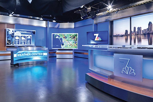 One out-of-the-ordinary project for Helix Electric was the NBC 7 broadcast studio, completed in 2016. Photo courtesy of Helix  Electric Inc.