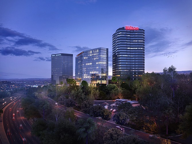 Rendering: Expansion tower at Hilton Los Angeles/Universal City.