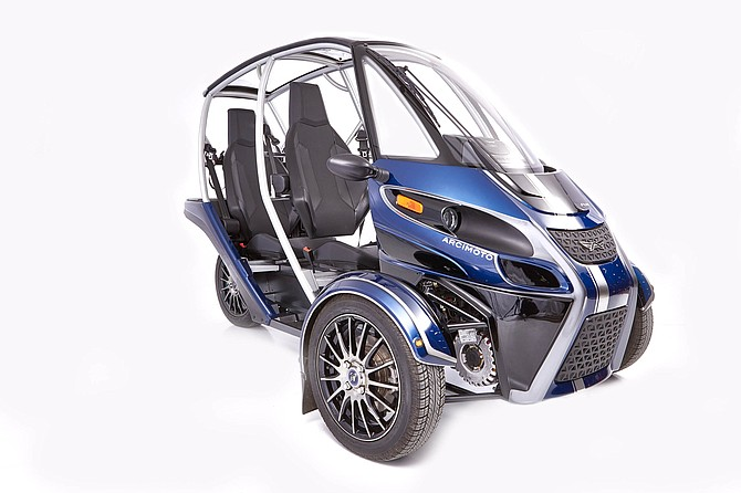 A three-wheeled electric vehicle from Arcimoto.