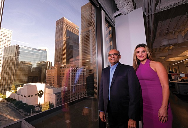 Growth Goals: Patel and Bodan in CBC Bancorp's downtown offices.