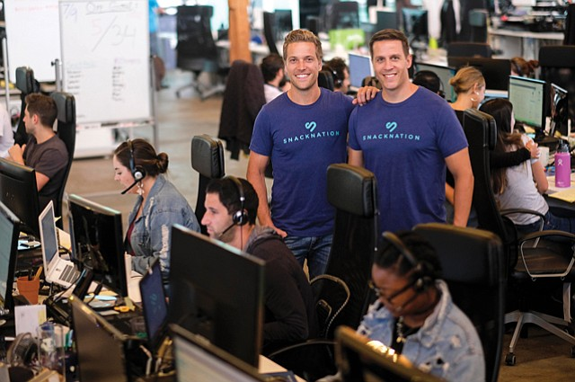 Founders: Sean Kelly, left, with SnackNation co-founder Andy Mackensen.