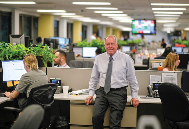 Don's Domain: Westlake Financial Chairman Hankey at company HQ in Mid-Wilshire.