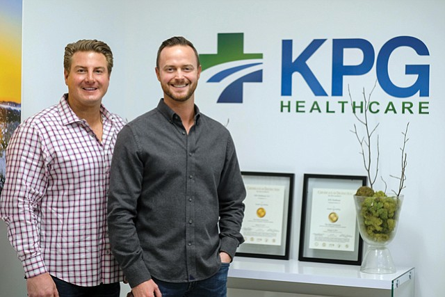 Service Oriented: KPG Healthcare co-founders Kris Page (left) and Joe Gossman.