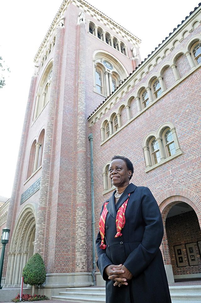 Looking Ahead: Interim USC President Wanda Austin on campus.