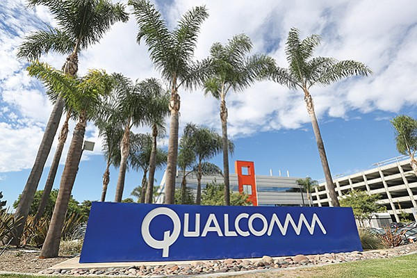 Next year, Qualcomm Inc. said its top three priorities are to drive the transition to 5G technology, execute across its core chip business and resolve its dispute with Apple Inc.  The company has billions of dollars wrapped up in its multiyear legal battle with Apple. File photo by Jamie Scott Lytle