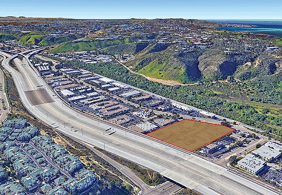 The 6.6-acre vacant lot in Sorrento Valley is zoned for light industrial, office or commercial use. Photo courtesy of Westcore Properties