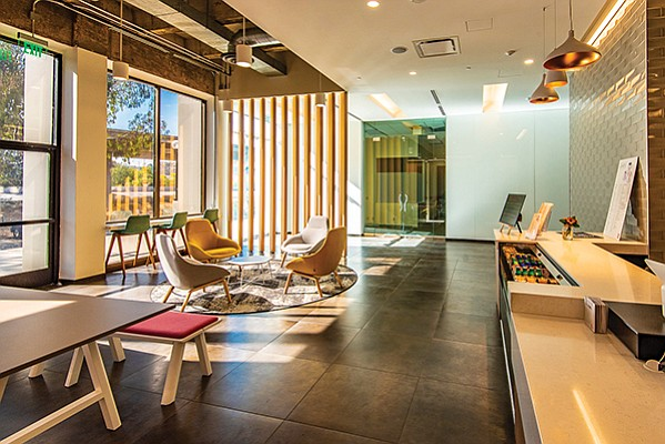 The remodeled interior of Tower 591 in Mission Valley. Photo courtesy of JLL
