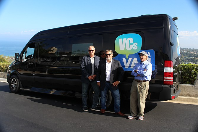 VCs in a van, a documentary-style TV show depicting investments in southern California, will debut on Dec. 2. From left to right: investors Mark Bowles, Tom Tullie and Neil Senturia.