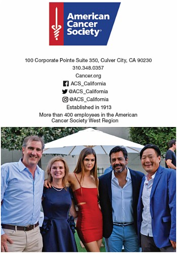 American Cancer Society California Spirit 2018 gala at Sony Studios. From left to right, event co-chairs Roger and Joy Davis and their daughter along with host chef Javier Plascencia and honoree chef Ming Tsai.