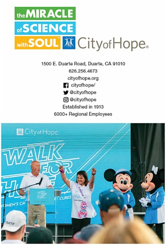 This year, Walk for Hope Los Angeles thanks its generous sponsors, Bob Chapek of Disney, and Cathay Bank.