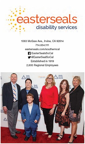 From left: Easterseals Southern California CEO Mark Whitley, board members Marilyn Lindheim, Nic Novicki and Mary Platt, Chief Development Officer Nancy Weintraub, board member Jodi Huston at the Media Access Awards presented by Easterseals.