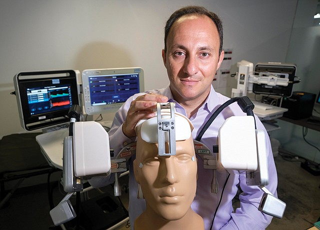 Brain Boss: CEO Petrossian with the company's Lucid Robotics System