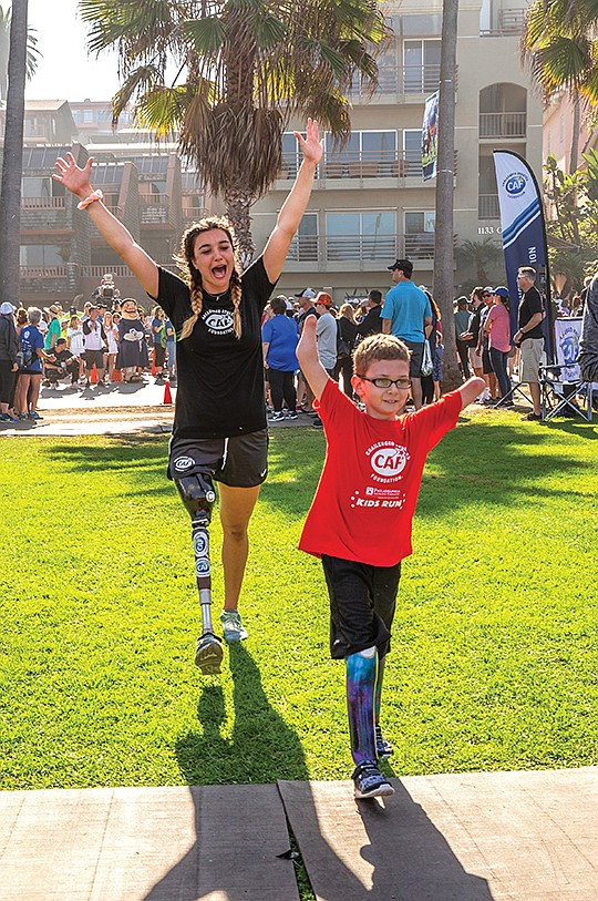 Brenna, left, and Huckaby, participated in the The Challenged Athletes Foundation's 25th anniversary in October. Photo courtesy of the Challenged Athletes Foundation