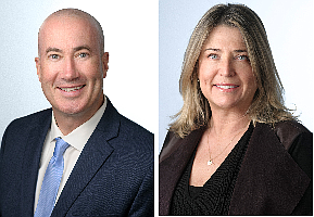 Todd Wuschnig and Stacy Vierheilig-Fraser of Lee & Associates in Sherman Oaks.