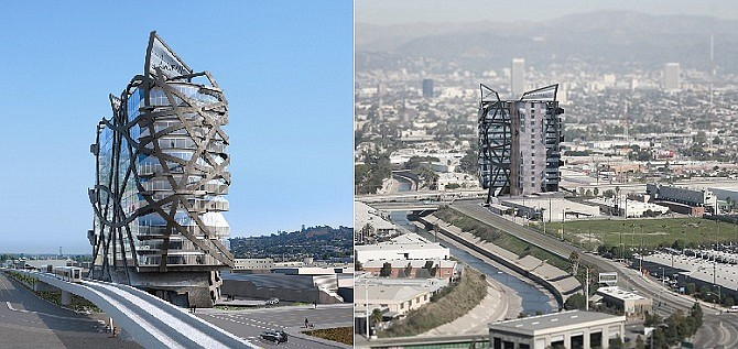 Rendering of the (W)rapper project in Culver City