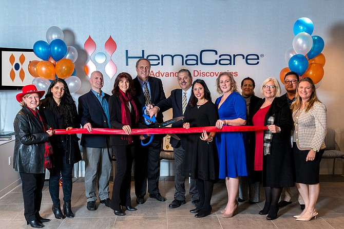 HemaCare Corp. ribbon-cutting ceremony at 8500 Balboa Blvd. in Northridge.