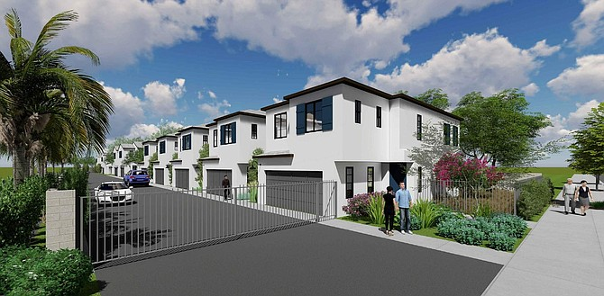 Rendering of proposed housing development at 17210 W. Roscoe Blvd. in Lake Balboa.
