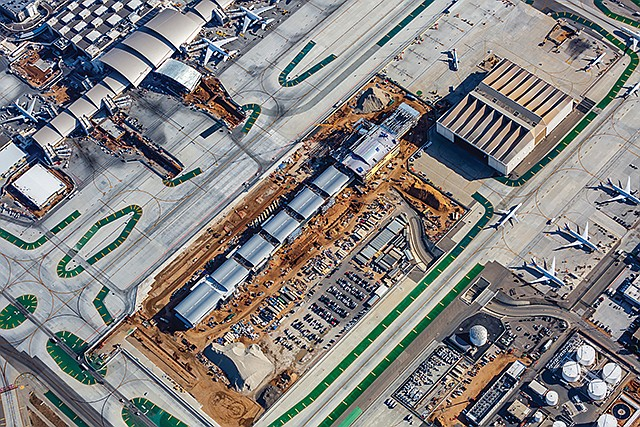 Ground Control: An aerial shot from November of the construction underway at LAX.