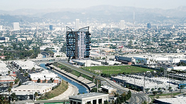 Wrapper Rendering: Culver City development behind schedule.
