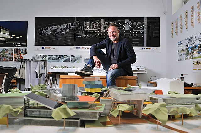 Building Blocks: Architect Mercier's operations are located in an Inglewood artist collective.