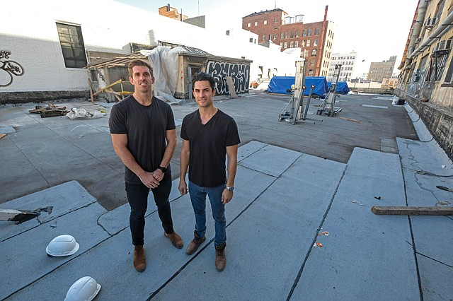 Joint Project: Bow West Capital's Sean Beddoe, right, and Peter Phelps teamed with Green Street Agency on the cannabis office project.
