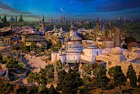 Conceptual drawing of Star Wars: Galaxy's Edge