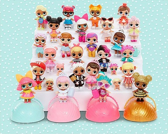Selection of L.O.L. Surprise! Dolls from MGA Entertainment in Van Nuys.