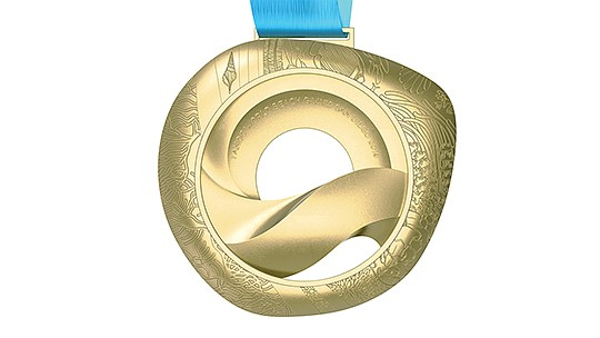 The Association of National Olympic Committees (ANOC) World Beach Games revealed the medal design for the San Diego 2019 multisport event during a general assembly held in Tokyo. Photo courtesy of the ANOC World Beach Games