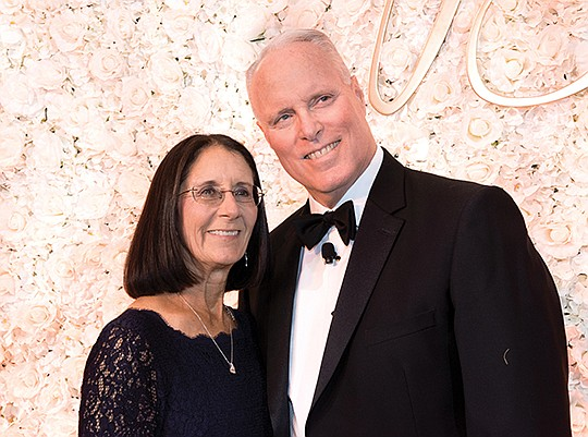 Scripps Health CEO, Chris Van Gorder, right, and his wife, Rosemary, at the 88th Annual Candlelight Ball to raise funds for the Scripps Health Foundation. Photo courtesy of Scripps Health Foundation