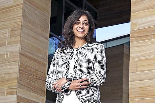 Sheila Gujrathi is the CEO of Gossamer Bio, a San Diego biotech seeking $264.5 million through an initial public offering. Photo courtesy of Gossamer Bio