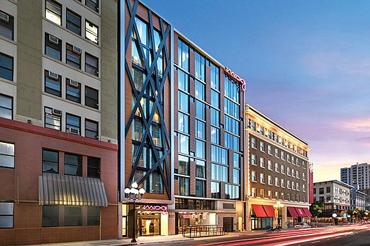 The Moxy Hotel opened in downtown San Diego in November. Rendering courtesy of The Moxy Hotel