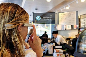 Aira designs smart glasses for the blind and visually impaired with a camera displaying the user's surroundings. On the other end, a trained agent describes what he or she sees. Photo courtesy of Aira