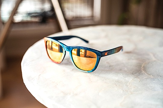 Knockaround sells mostly classic styles (like aviators and wayfarers) in both plastic and metal options and an array of colors and prints at an average price point of $20. Photo courtesy of Knockaround