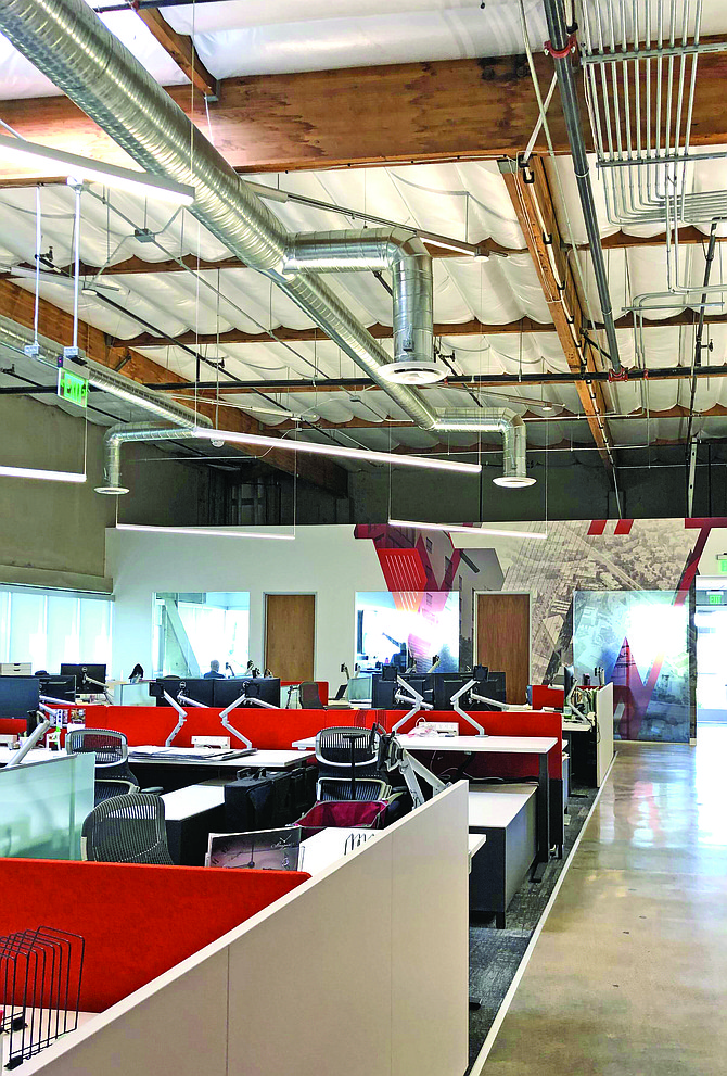 Ware Malcomb's new offices in Sorrento Valley provide a variety of workspaces. Photo courtesy of Ware Malcomb