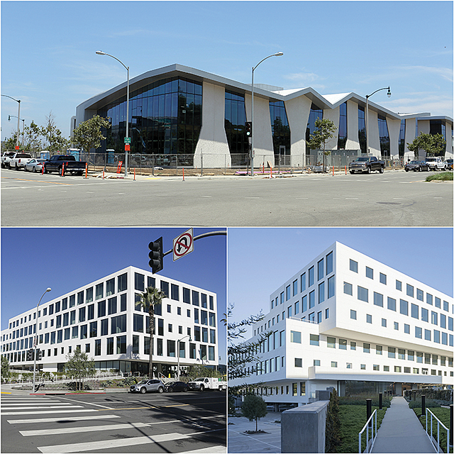 Silicon Beach Buildings: The Collective (left) and Brickyard.