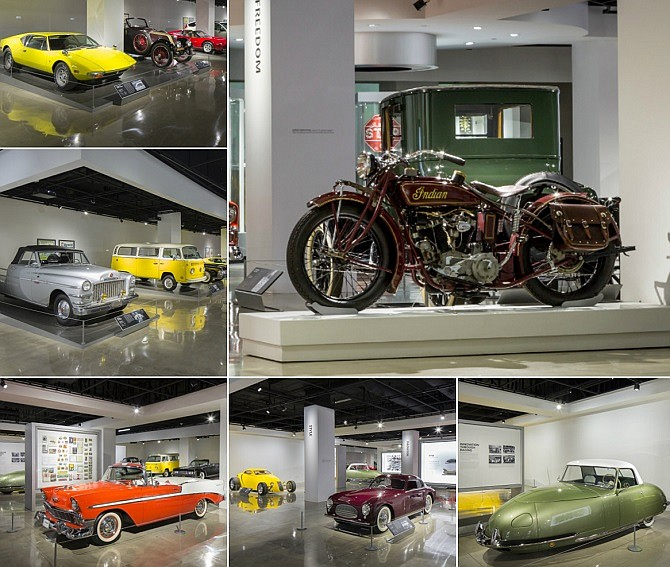 The history floor at the Petersen Automotive Museum (photos courtesy of the Petersen Museum)