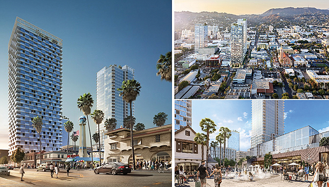 Historic Connection: Project will incorporate the Crossroads of the World and the Hollywood Reporter building.