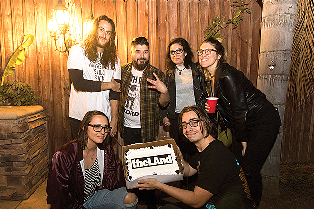 New Blood: Members of theLAnd, a new alt media outlet in Los Angeles, including co-founders Jeff Weiss (top left) Jennifer Swann (top right).